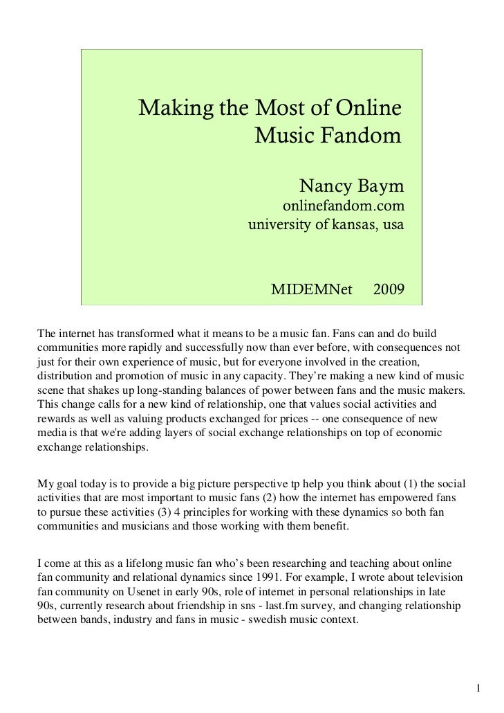 Making the most_of_online_music_fandom