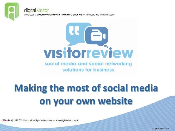 Making the most of social media      on your own website