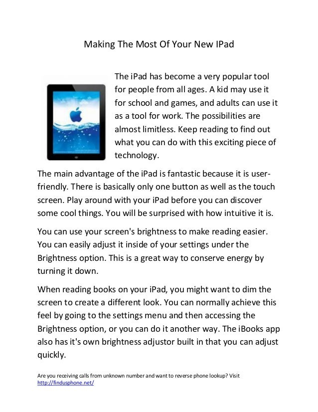 Making the most of your new i pad