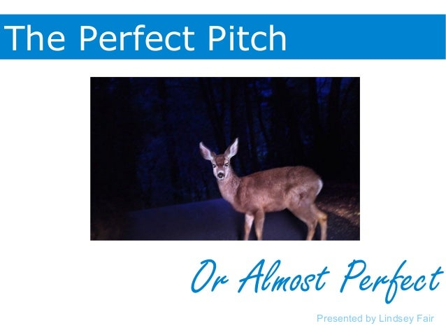 The Perfect Pitch Or Almost Perfect Presented by Lindsey Fair