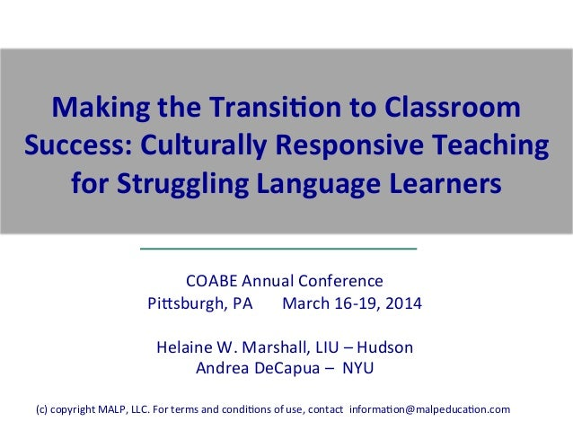 COABE  Annual  Conference   Pi2sburgh,  PA              March  16-‐19,  2014        Helai...