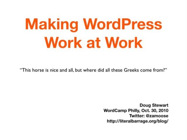 Making WordPress Work At Work (white)