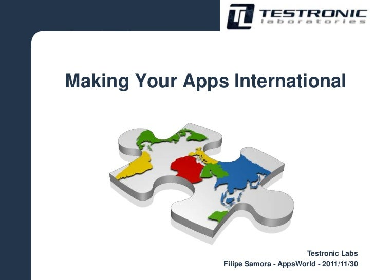 Making your Apps International