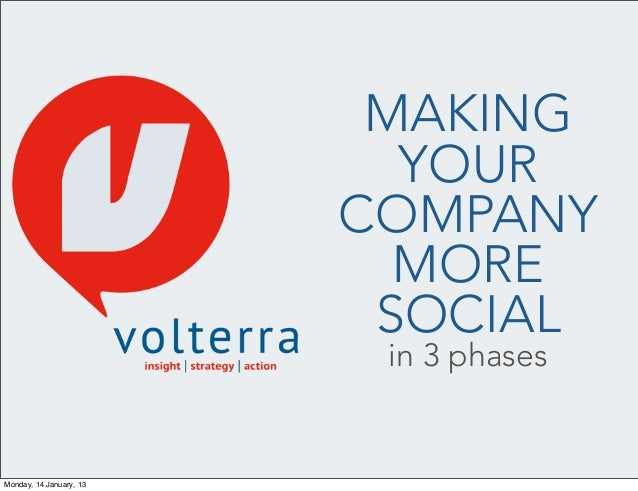 Making Your Company More Social In 3 Phases