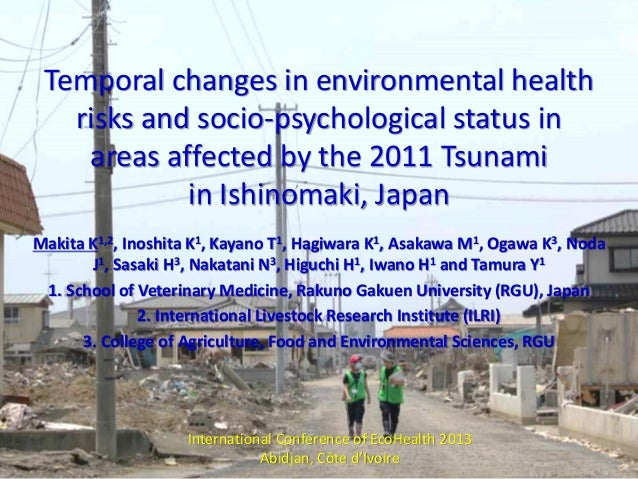 Temporal changes in environmental health risks and socio-psychological status in areas affected by the 2011 tsunami in Ishinomaki, Japan