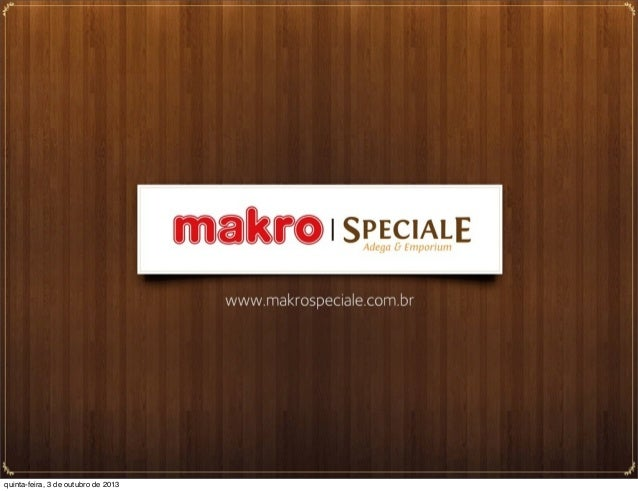 Makro Speciale - Dia do Barman