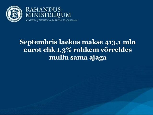 Maksulaekumised 09-2013