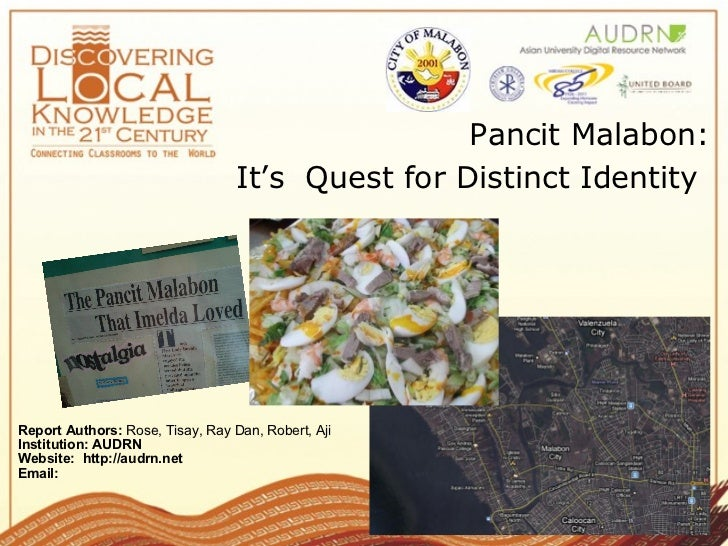 Pancit Malabon: Its Quest for Distinct Identity