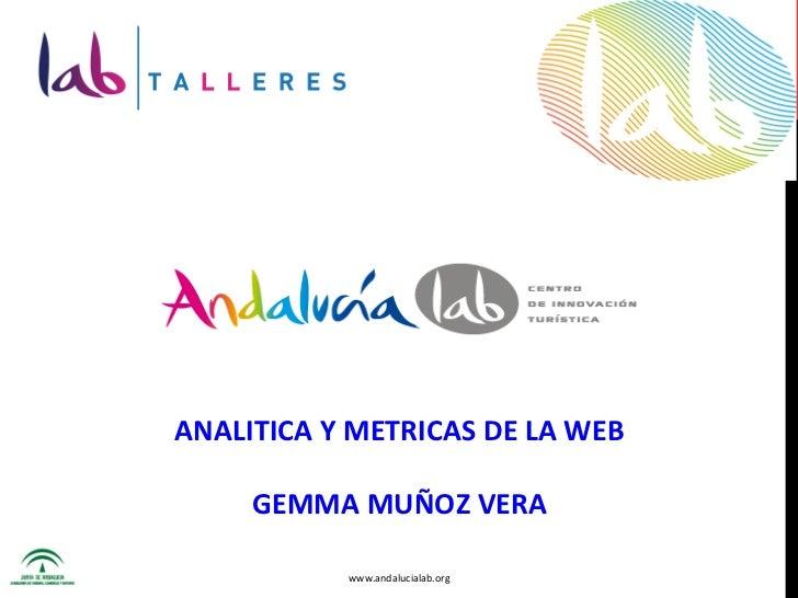Labtaller Analítica Web, Málaga. Gema Muñoz