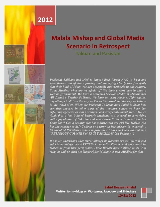 2012    Malala Mishap and Global Media         Scenario in Retrospect                       Taliban and Pakistan   Pakista...