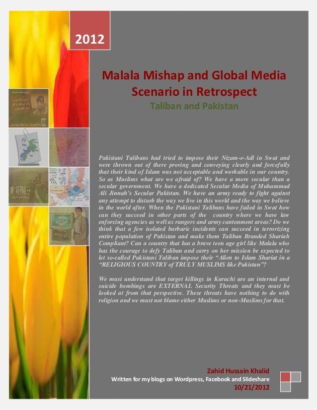 Malala mishap and global media scenario in retrospect taliban and pakistan