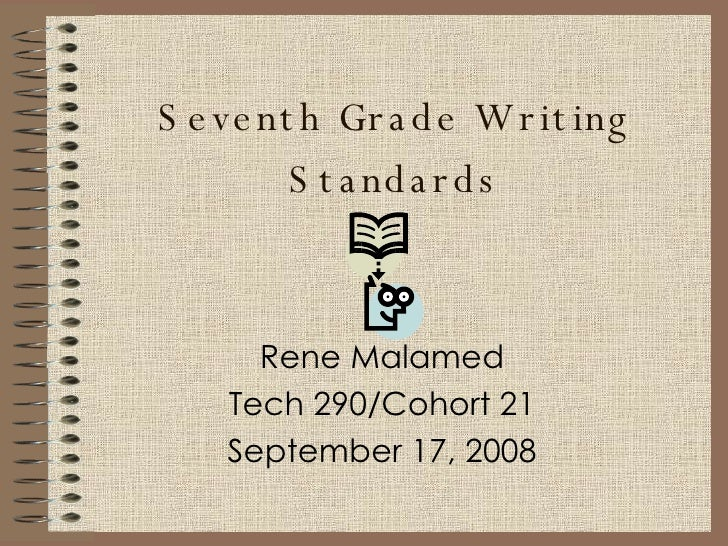 Writing Standards For Seventh Grade