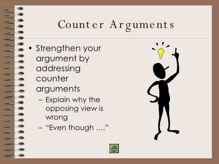 persuasive essay and counter argument Argumentative essay/commentary : composition writing studio : the  counter  arguments and concessions: pdf handout with examples.