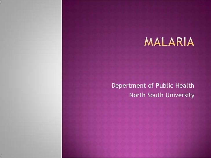 Depertment of Public Health     North South University