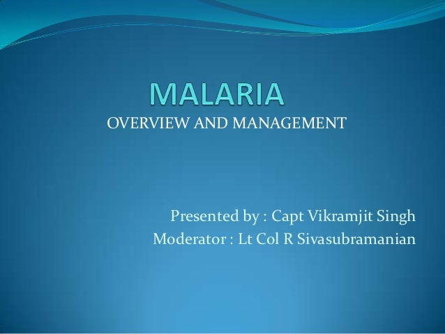 OVERVIEW AND MANAGEMENT     Presented by : Capt Vikramjit Singh    Moderator : Lt Col R Sivasubramanian