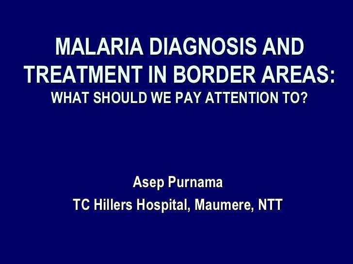 Malaria border area