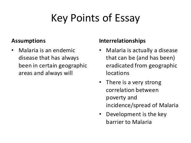 Topics For High School Essays Malaria  Essays Papers  Helpme Personal Essay Thesis Statement also Science Argumentative Essay Topics Malaria Essay From Thesis To Essay Writing