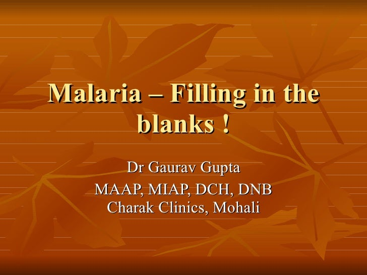 what is malaria knowing more on (see the article on anemia for more information)  the type of malaria (knowing the species of parasite will help your doctor choose the most appropriate .