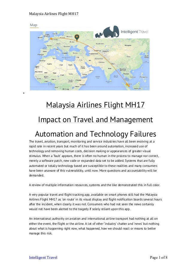 Malaysia airlines flight MH17 impact on travel management
