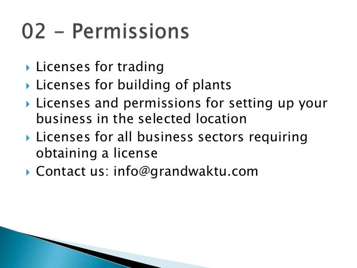 Trade License Malaysia Licenses For Trading