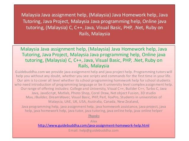 Assignment helper malaysia