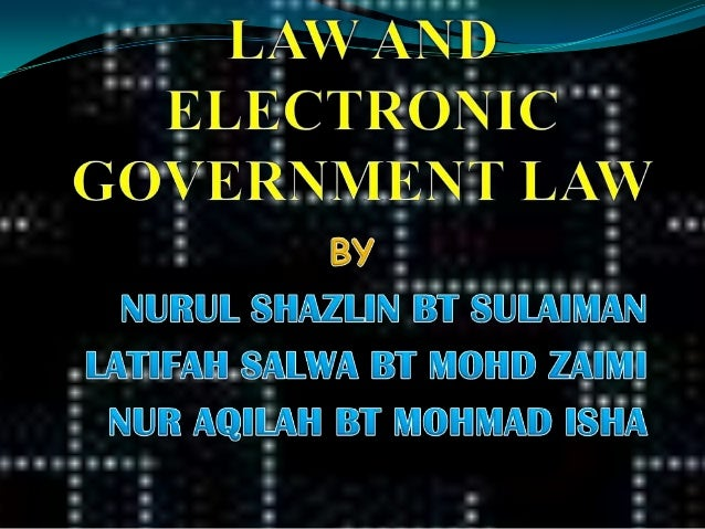 a report on electronic government in malaysia 3 laws of malaysia act 680 electronic government activities act 2007 arrangement of sections part i preliminary section 1 short title and commencement.