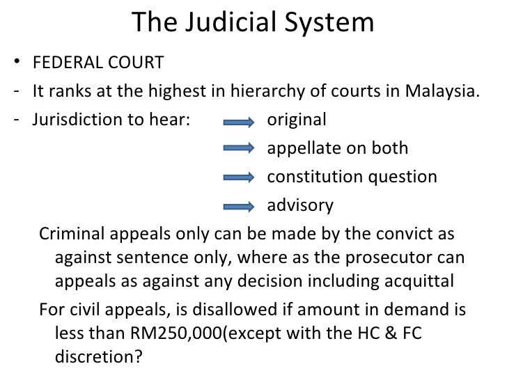 malaysian hierarchy court
