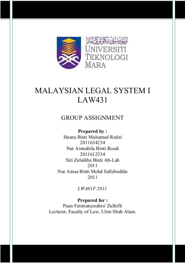 malaysian legal system introduction to law Update: introduction to the malaysian legal system and sources of law  the  application of english common law and rules of equity—limitations under.