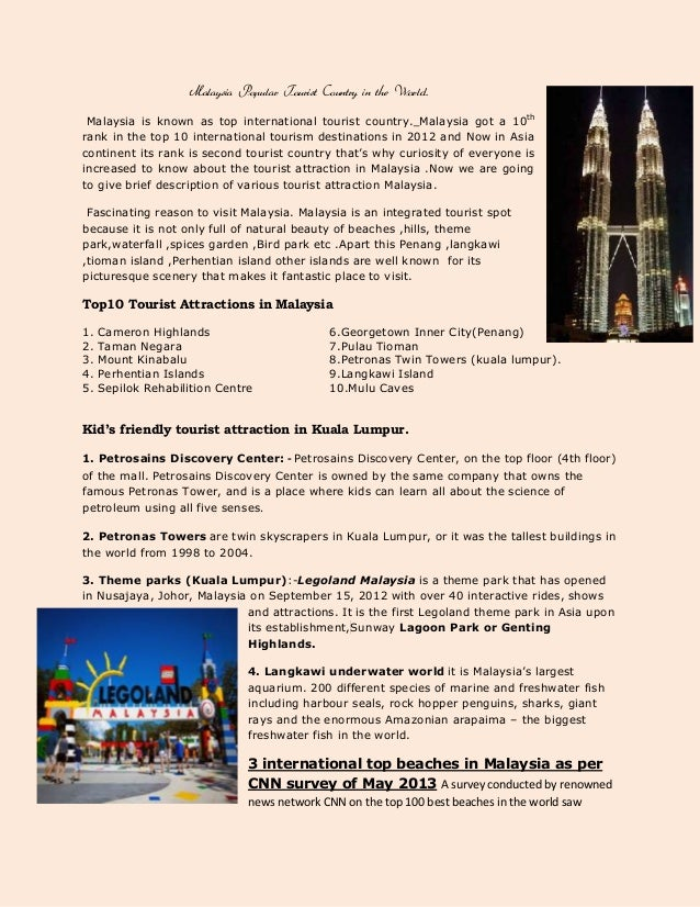Malaysia tourist attraction