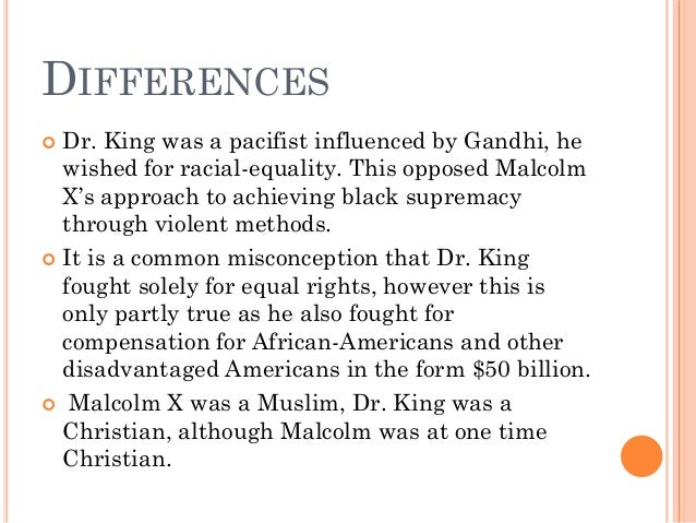 Kateliness2's Compare/Contrast Essay: Martin Luther King, Jr. vs. Malcolm X