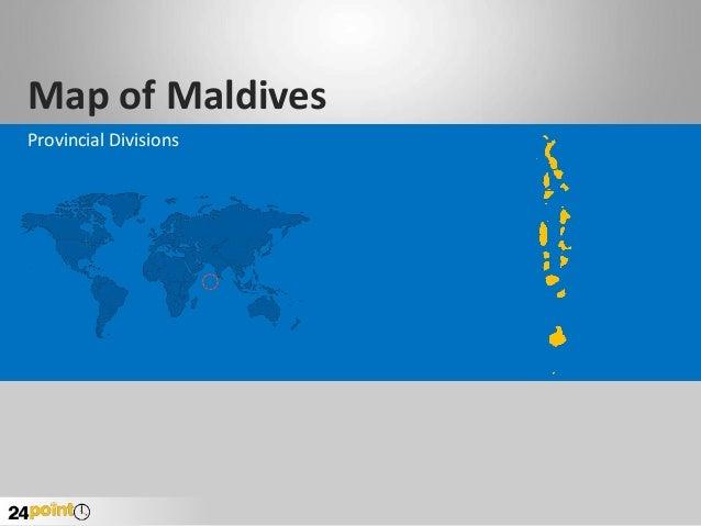 PowerPoint Maldives Map