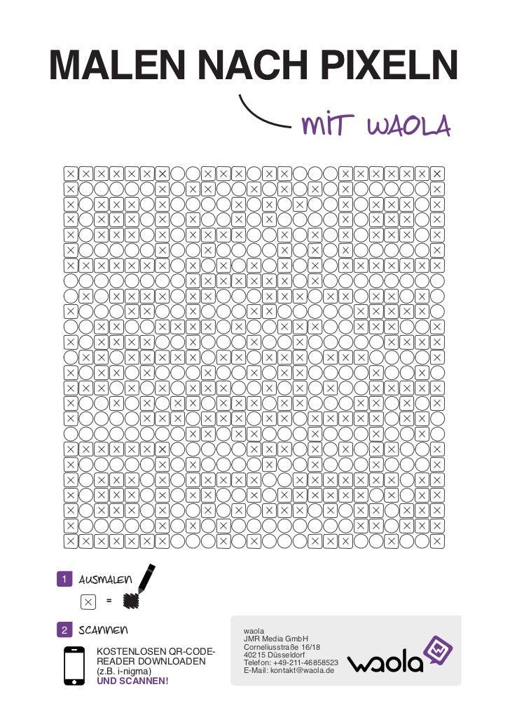 MALEN NACH PIXELN                                            mit waola1   ausmalen        =2   scannen                  wa...