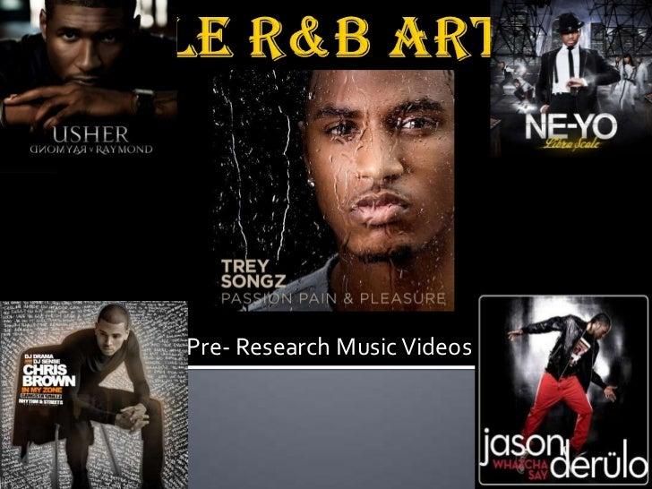 Male R&B Artist Research
