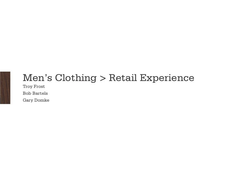 Male Shopping Experience Final