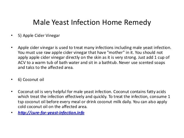 how to cure male yeast infection fast