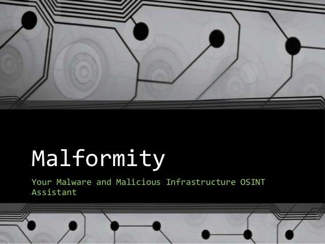 Malformity BsidesBoston2013