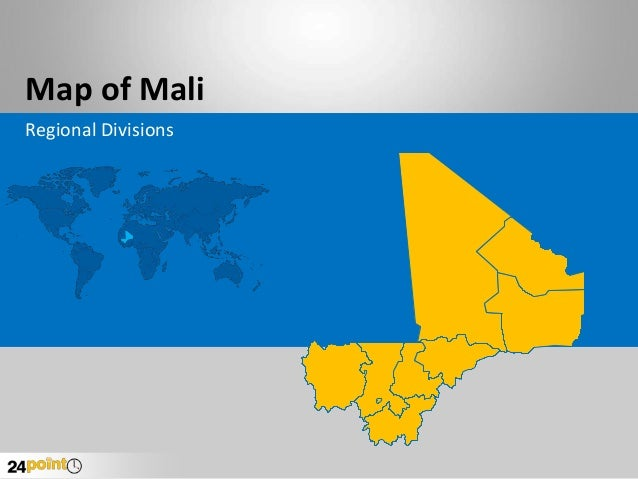 Map of Mali Regional Divisions