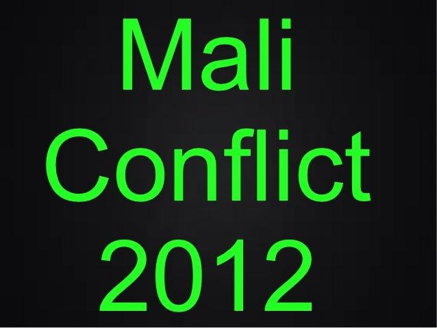 MaliConflict 2012