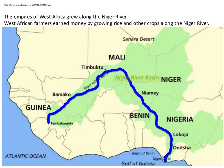 west africa map niger river