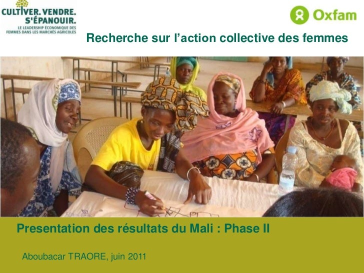 Presentation des résultats du Mali : Phase II<br />Aboubacar TRAORE, juin 2011<br />
