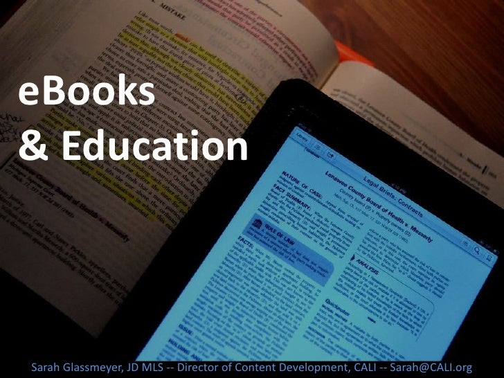 eBooks and Education
