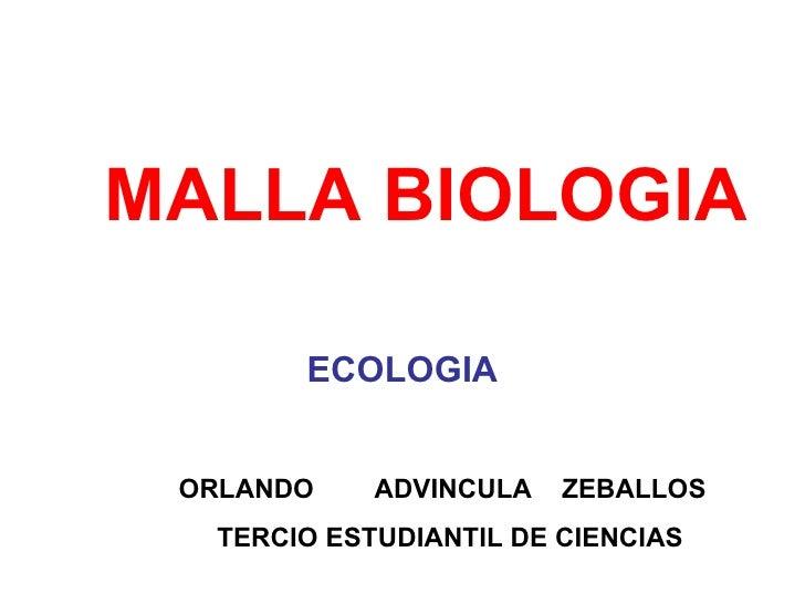 MALLA BIOLOGIA ECOLOGIA ORLANDO  ADVINCULA  ZEBALLOS  TERCIO ESTUDIANTIL DE CIENCIAS