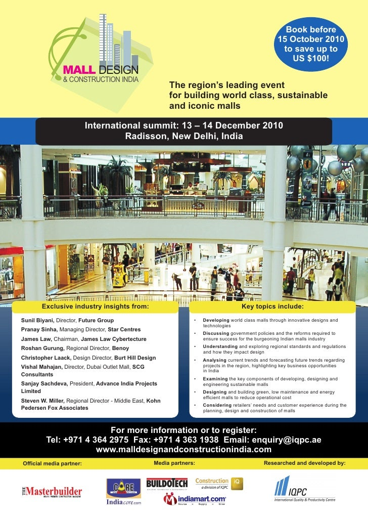 Mall Design and Construction India