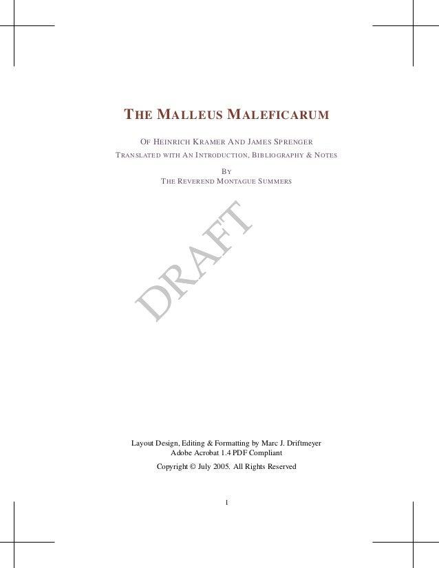 Malleus maleficarum en