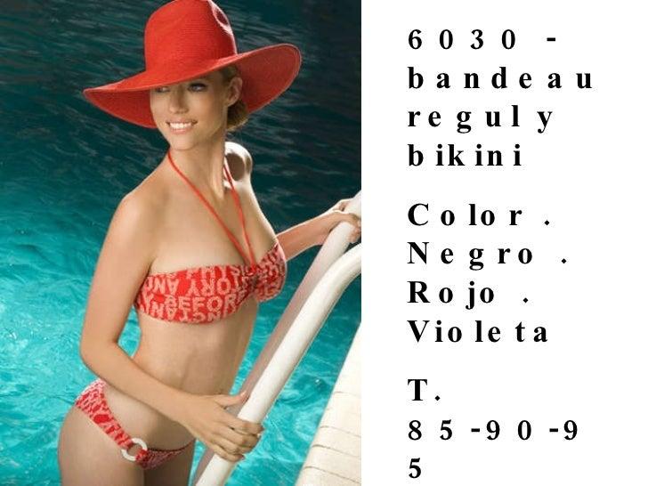 6030 - bandeau regul y bikini  Color . Negro . Rojo . Violeta  T. 85-90-95  Precio $ 69