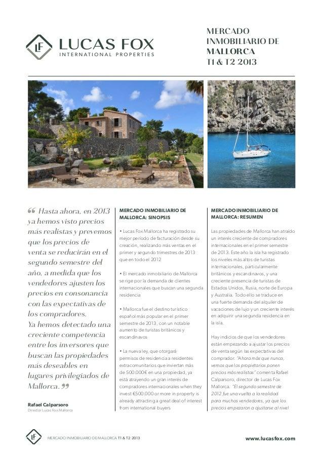 Mercado Inmobiliario de Mallorca T1 & T2 2013