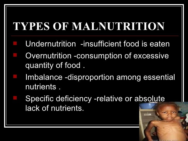Overnutrition and Undernutrition of Nutrients
