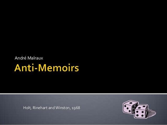 Malraux anti memoirs