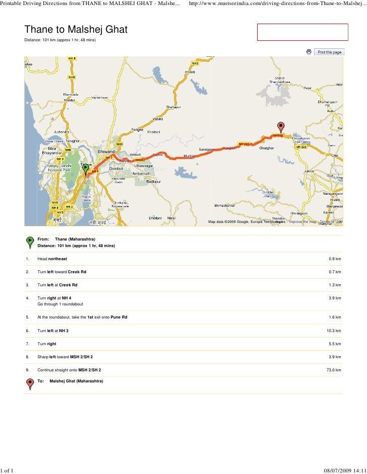 Thane to Malshej Ghat          Distance: 101 km (approx 1 hr, 48 mins)                                                    ...
