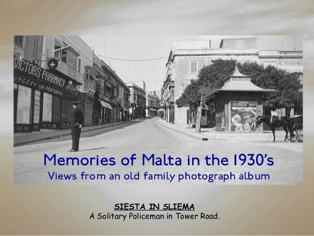 Memories of Malta in The 1930's